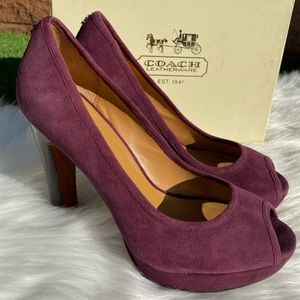 COACH Breanna Suede Plum Shoes